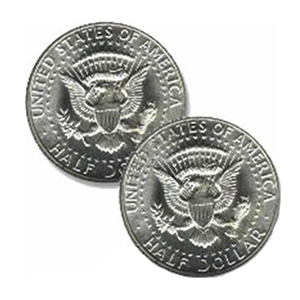Double Side Half Dollar Tails
