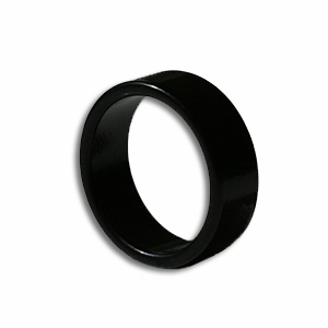 Magnetic Ring Black 19mm - Flat Band