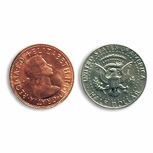 Copper Silver Half Dollar