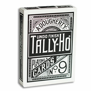 Tally Ho Fan Back Poker size - Svart