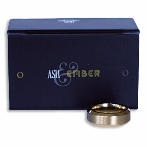 Ash and Ember Gold Beveled Size 21mm