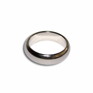 Magnetisk Ring - Silver Large ( 22mm )