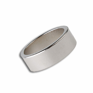 Magnetic Ring - Silver 20mm - Flat Band