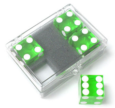 Dice 4-pack Green 19mm