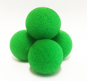 High Density Ultra Soft Sponge Ball Gröna 3cm