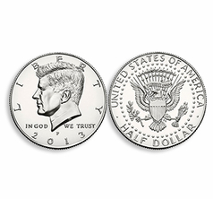 Steel Shimmed US Half Dollar