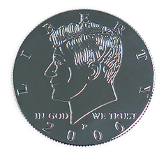 Kennedy Palming Coin (Half Dollar Sized)