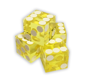 Dice 4-pack Yellow 19mm