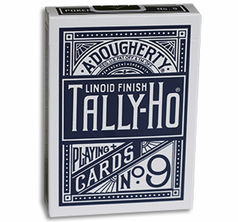 Tally Ho Fan Back Poker size - Blå