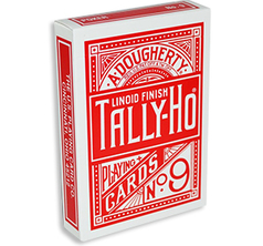 Tally Ho Fan Back Poker size - Röd