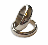Magnetisk Ring - Silver Large ( 21mm )