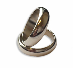 Magnetisk Ring - Silver Large ( 23mm )