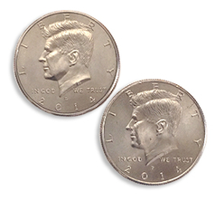 Double Side Half Dollar Head