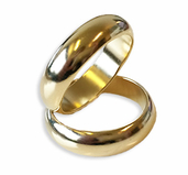 Magnetisk Ring - Guld Small ( 18mm )