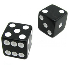 Loaded Dice (Weighted, Wood, Black)