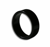 Magnetic Ring Black 18mm - Flat Band