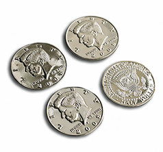 Jumbo Half Dollar Shells 3 + 1 Set