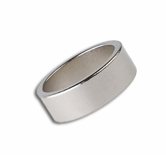 Magnetic Ring - Silver 18mm - Flat Band