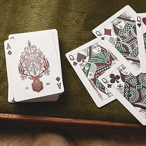 Antler Playing Cards (Hunter Green) by Dan and Dave