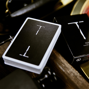 New T Playing Cards Black