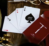 New T Playing Cards Red