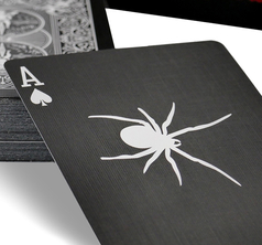 Bicycle Black Spider Deck