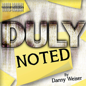 DULY NOTED Red by Danny Weiser