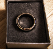 Kinetic PK Ring (Silver) Beveled Size 19mm