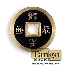 Dollar Size Chinese Coin (Black) by Tango