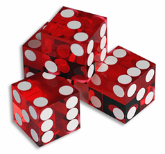 Dice 4-pack Red 19mm