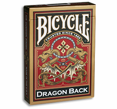 Bicycle Dragon Back Cards (Gold)