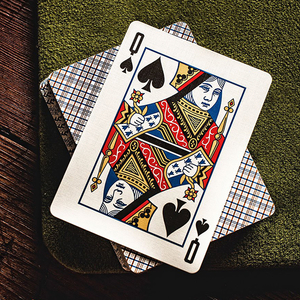 Vintage Plaid Playing Cards - California Blue